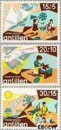 Nederlandse Antillen NA 515#517  1975 Creativiteit  cent  Gestempeld