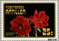 Nederlandse Antillen NA 545  1977 Bloemen 25 cent  Gestempeld
