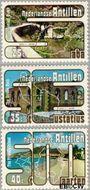 Nederlandse Antillen NA 556#558  1977 Toerisme 15+10 cent  Postfris