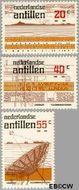Nederlandse Antillen NA 593#595  1978 Radiodienst  cent  Gestempeld