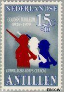 Nederlandse Antillen NA 630  1979 Vrijwilligers Korps 15+10 cent  Gestempeld
