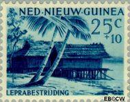 Nieuw-Guinea NG 43  1957 Leprabestrijding 25+10 cent  Gestempeld