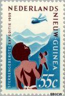 Nieuw-Guinea NG 53  1959 Expeditie Sterrengebergte 55 cent  Gestempeld