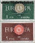 SPA 1189#1190 Postfris 1960 C.E.P.T.- Spaakwiel