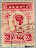 Suriname SU 103  1913 Palmtype 250 cent  Gestempeld