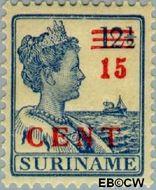 Suriname SU 113  1925 Hulpuitgifte 15 op 12½ cent  Gestempeld
