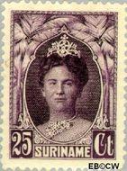 Suriname SU 124  1927 Gewijzigd jubileum-type 25 cent  Gestempeld