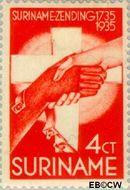 Suriname SU 154  1935 Zendingswerk 4+2 cent  Gestempeld