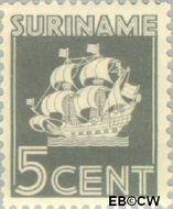Suriname SU 164  1936 Scheepje 5 cent  Gestempeld