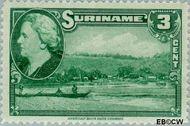 Suriname SU 224  1945 Wilhelmina en landschappen 3 cent  Gestempeld