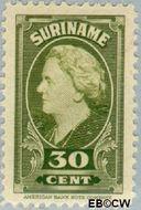 Suriname SU 234  1945 Koningin Wilhelmina 30 cent  Gestempeld
