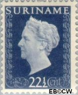 Suriname SU 265  1948 Koningin Wilhelmina 22½ cent  Gestempeld