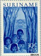 Suriname SU 315  1954 Jeugdwerk 30+15 cent  Gestempeld