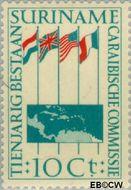 Suriname SU 325  1956 Caraïbische Commissie 10 cent  Gestempeld