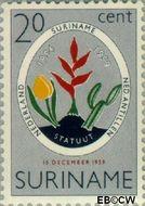 Suriname SU 335  1959 Koninkrijks Statuut 10 cent  Gestempeld