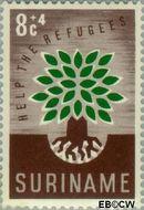 Suriname SU 345  1960 Vluchtelingenjaar 8+4 cent  Gestempeld