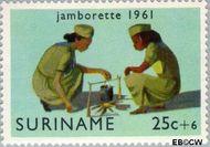 Suriname SU 375  1961 Jamborette 25+6 cent  Gestempeld