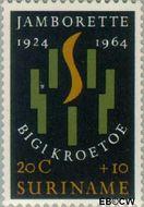 Suriname SU 413  1964 Jamborette 20+10 cent  Gestempeld
