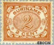 Suriname SU 43  1902 Drukwerkzegel 2 cent  Gestempeld