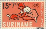 Suriname SU 433  1965 Kind en dier 15+7 cent  Gestempeld