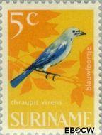 Suriname SU 443  1966 Vogels 5 cent  Gestempeld