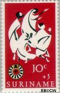 Suriname SU 453  1966 Service clubs 10+5 cent  Gestempeld