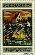 Suriname SU 503  1968 Restauratie Synagoge 25 cent  Gestempeld