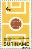 Suriname SU 543  1970 Surinaamse Voetbalbond 4 cent  Gestempeld