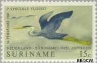 Suriname SU 553  1971 Lijndienst Amsterdam-Paramaribo 15 cent  Gestempeld