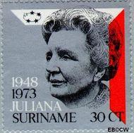 Suriname SU 603  1973 Regeringsjubileum Juliana 30 cent  Gestempeld