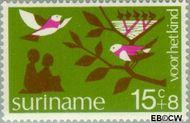 Suriname SU 633  1974 Diverse voorstellingen 15+8 cent  Gestempeld