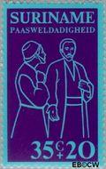 Suriname SU 643  1975 Bijbelse voorstellingen 35+20 cent  Gestempeld