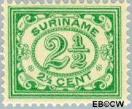 Suriname SU 73  1913 Drukwerkzegel 2½ cent  Gestempeld