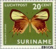 Suriname SU LP48  1972 Vlinders 20 cent  Gestempeld
