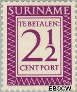 Suriname SU PT49  1956 Port 2½ cent  Gestempeld