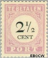 Suriname SU PT9  1892 Port 2½ cent  Gestempeld