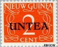 West-Nieuw-Guinea NG WNG2  1962 UNTEA opdruk 2 cent  Gestempeld