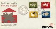 Nederland NL E63  1964 Dieren   cent  FDC zonder adres