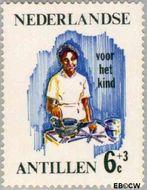 Nederlandse Antillen NA 376  1966 Werken 6+3 cent  Gestempeld