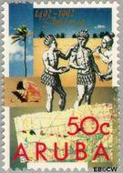 Aruba AR 112  1992 Ontdekking Amerika 50 cent  Gestempeld