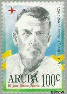 Aruba AR 172  1996 Politici 100 cent  Gestempeld