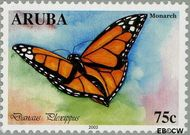 Aruba AR 303  2003 Vlinders 75 cent  Gestempeld