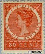 Suriname SU 54  1904 Medaillon 30 cent  Gestempeld