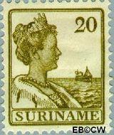 Suriname SU 94  1915 Scheepjes-type 20 cent  Gestempeld