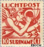 Suriname SU LP1  1930 Mercurius 10 cent  Gestempeld
