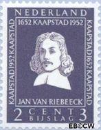 Nederland NL 578  1952 Riebeeck-monument 2+3 cent  Gestempeld