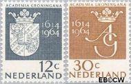 Nederland NL 816#817  1964 Universiteit Groningen  cent  Gestempeld