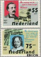 Nederland NL 1370#1371  1987 Sterfdagen  cent  Gestempeld