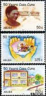 Aruba AR 373#375  2007 Casa Cuna kinderopvanghuis  cent  Gestempeld