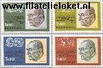 POR 1202#1205 Postfris 1973 Bezoek staatspresident Brazilië